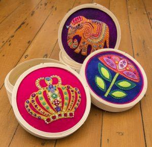 Bamboo sewing baskets