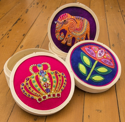 Bamboo sewing baskets